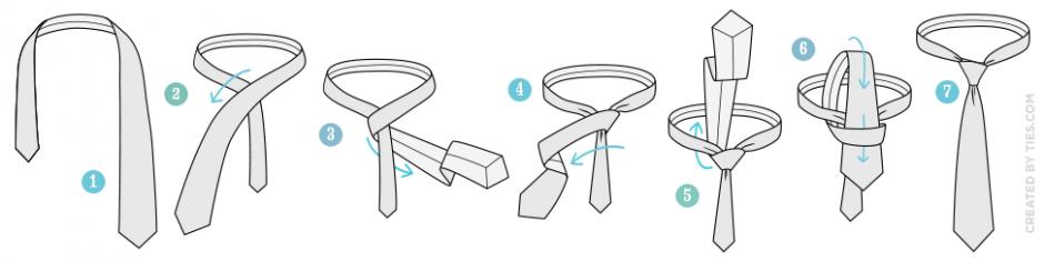 วิธีผูกไทแบบ four-in-hand-knot-tying-instructions