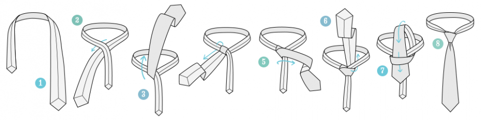 วิธีผูกไทแบบ pratt-knot-tying-instructions