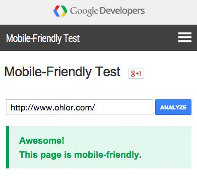 About Ohlor Mobile Friendly Test