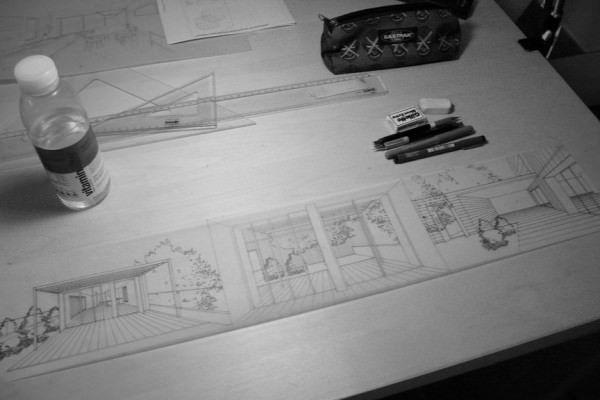 ออกแบบตกแต่งภายใน Interior Sketch