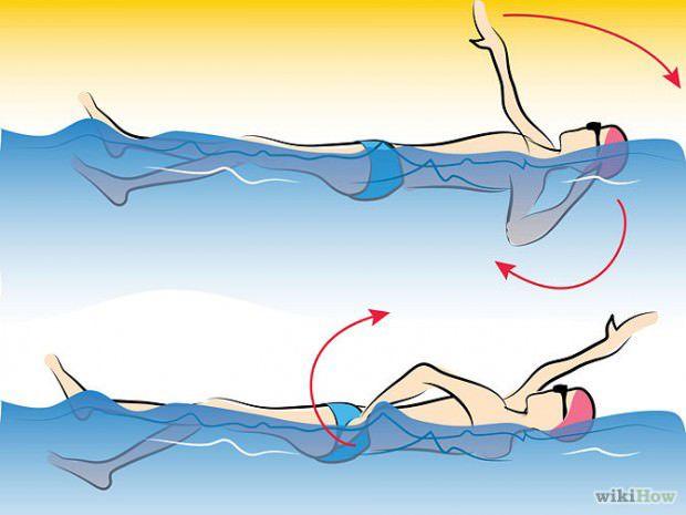 วิธีว่ายน้ำท่ากรรเชียง (4)