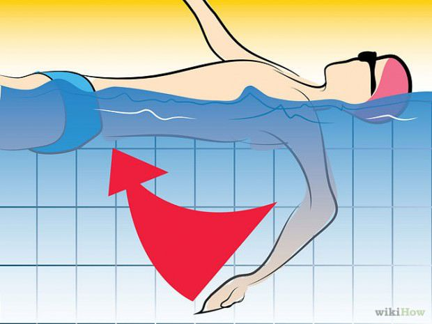 วิธีว่ายน้ำท่ากรรเชียง (8)