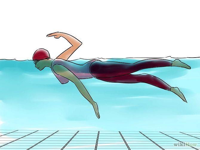 วิธีว่ายน้ำท่าฟรีสไตล์ (2)