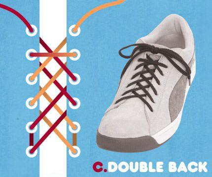 วิธีผูกเชือกรองเท้าแบบ Double Back