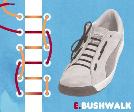 วิธีผูกเชือกรองเท้าแบบ Bushwalk