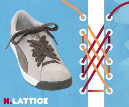 วิธีผูกเชือกรองเท้าแบบ Lattice