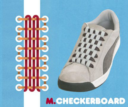 วิธีผูกเชือกรองเท้าแบบ Checker Board
