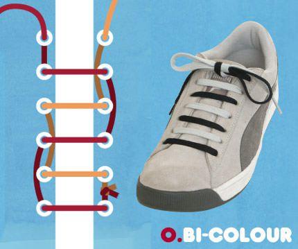 วิธีผูกเชือกรองเท้าแบบสองสี Bi-Colour