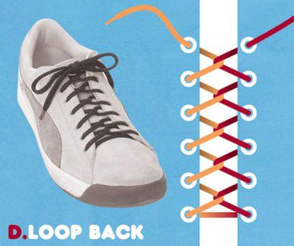 วิธีผูกเชือกรองเท้าแบบ Loop Back
