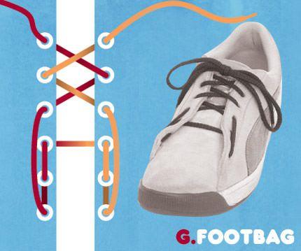 วิธีผูกเชือกรองเท้าแบบ Footbag