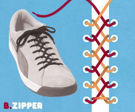 วิธีผูกเชือกรองเท้าแบบ Zipper