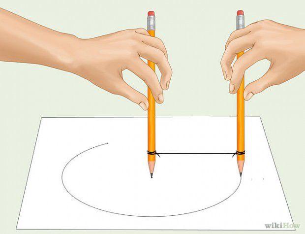 วิธีวาดวงกลมโดยใช้ดินสอ