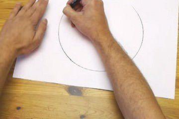 วิธีวาดวงกลมโดยใช้มือ1