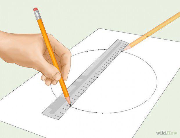 วิธีวาดวงกลมโดยใช้ไม้บรรทัด