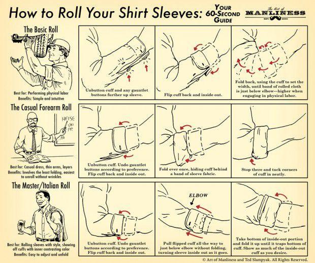 วิธีพับแขนเสื้อให้ดูดี