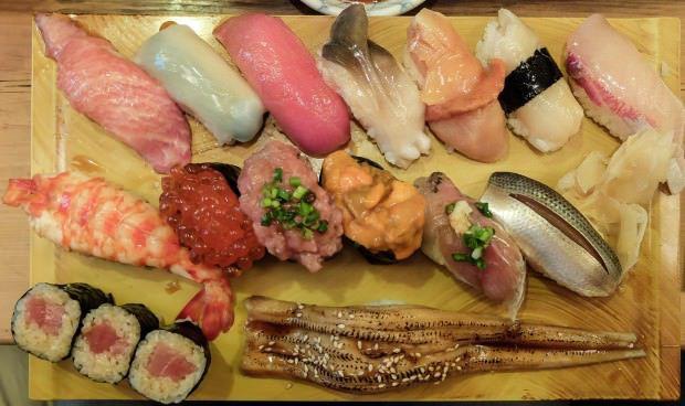 ลำดับการทานซูชิ