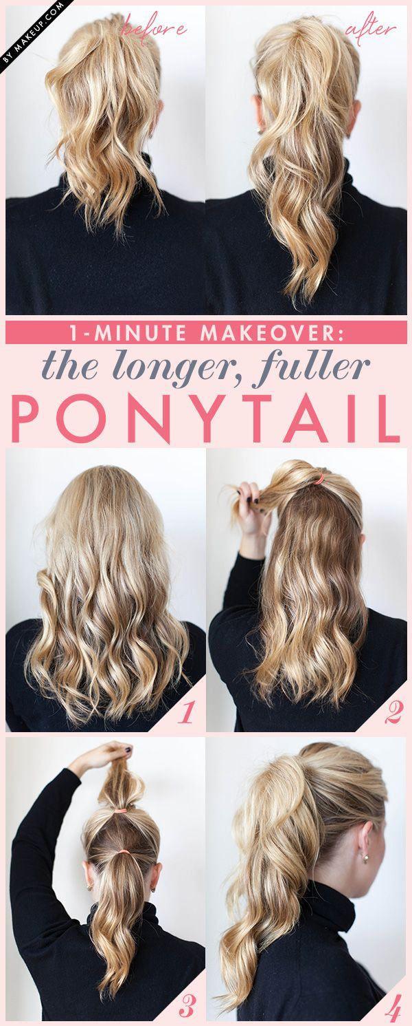 วิธีมัดผมหางม้าผู้หญิงสวยๆ Pony Tail9