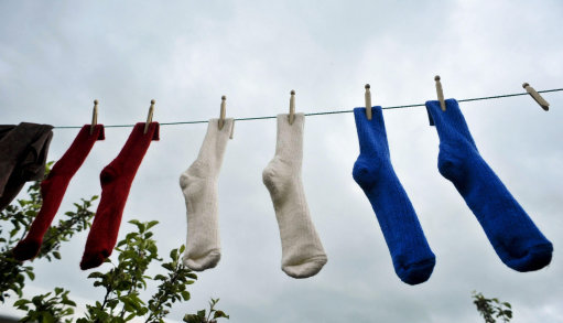 File photo dated 29/05/10 of socks on a washing line.